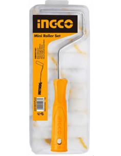 INGCO HKTCB121001 Set mini rouleaux de peinture 12 en 1 murs intérieurs 100 mm