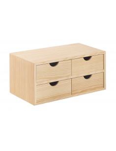 ASTIGARRAGA MINIBLOC Minibloc 2x2 (4) tiroirs 18,5 x 40 x 20 cm