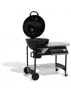 Barbecue à charbon et plan de travail Eddie