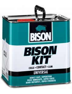 BISON KIT® Colle de contact universelle, liquide et super forte 2,5 L