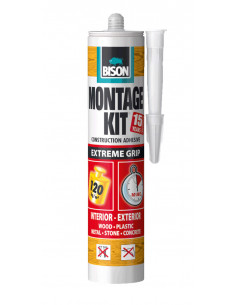 BISON MONTAGEKIT® EXTREME GRIP Extra strong, solvent-free assembly adhesive with an extremely high initial bond strength 370 g