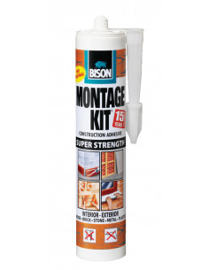 BISON MONTAGEKIT® SUPER STRENGTH Extra strong, universal and filling assembly adhesive Beige 350 g