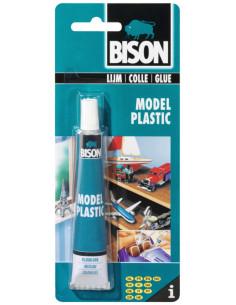 BISON MODEL PLASTIC Colle spécialement pour modèles réduits en polystyrène 25 ml