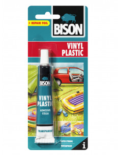 BISON VINYL PLASTIC ADHESIVE Glue to repair vinyl/soft PVC objects 25 ml