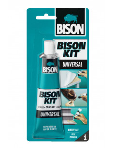 BISON KIT® Colle de contact universelle, liquide et super forte 100 ml