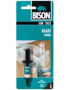 BISON VERRE Colle claire, rapide et résistante à l'eau, pour le verre 2 ml