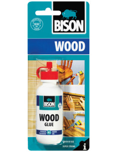 BISON WOOD GLUE High quality, moisture resistant (EN 204 D2) white wood glue 75 g