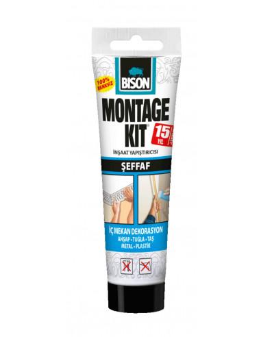 Populair BISON MONTAGEKIT® TRANSPARENT Transparent, strong, solvent-free DI78