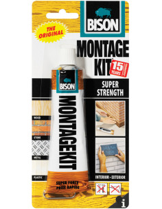 BISON MONTAGEKIT® SUPER STRENGTH Extra strong, universal and filling assembly adhesive Beige 125 g