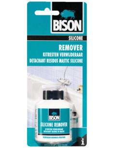 BISON SILICONE REMOVER Pour éliminer à fond et sans risque des résidus de mastic durcis 100 mL
