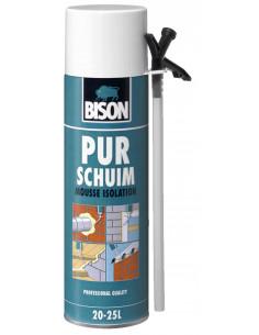 BISON MOUSSE ISOLATION Mousse polyuréthane universelle à expansibilité élevée. S'utilise à l'intérieur et à l'extérieur 500 ml