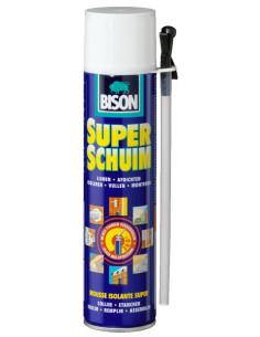 BISON MOUSSE ISOLANTE SUPER Mousse polyuréthane universelle à expansibilité élevée. Utilisable dans toutes positions 400 ml