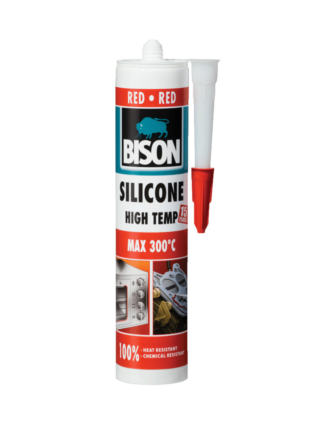 Peindre Sur Glycero Sans Poncer bison silicone high temp silicone thermorésistant rouge 280 ml