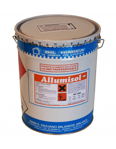 EDILCHIMICA ALLUMISOL Vernis résino-bitumineux aluminisé au solvant 2000 ml