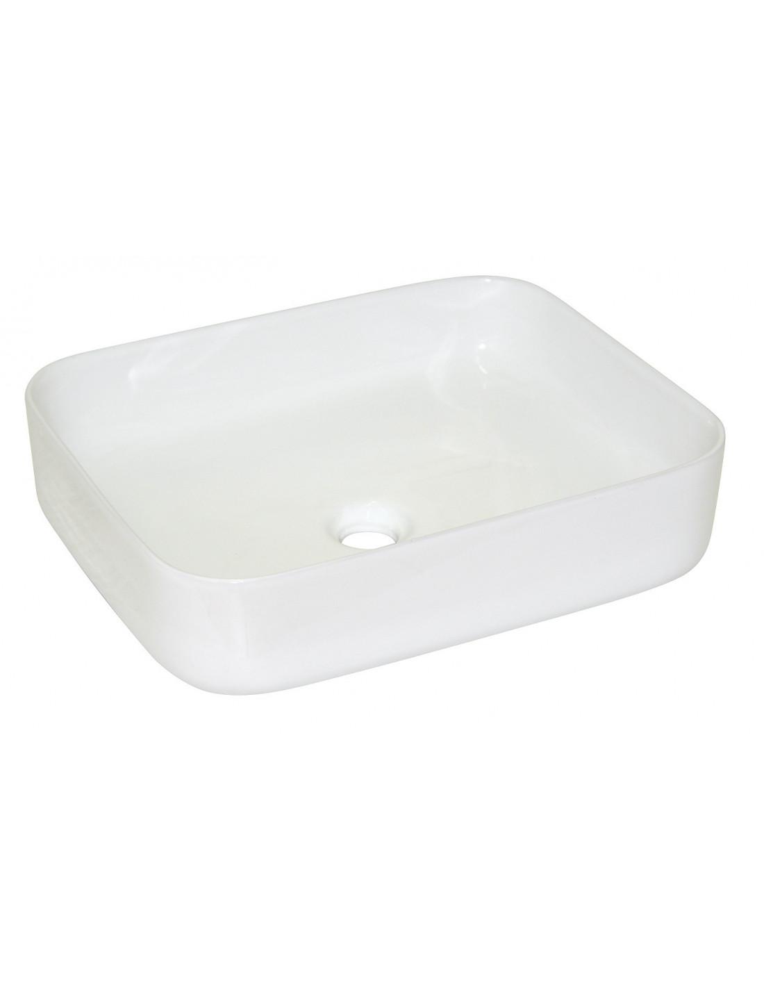 vasque a poser ceramique MARKET Vasque à poser céramique blanche 54 x 40 cm