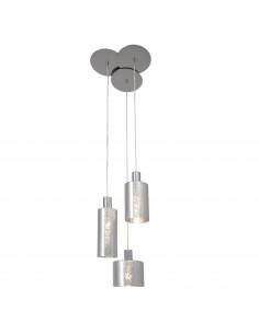 BRILLIANT Suspension 3 lumières chrome/argenté EMOTION