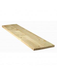 SUPBOIS Tablette d'aménagement en bois de sapin 200 x 30 cm Ep. 18 mm