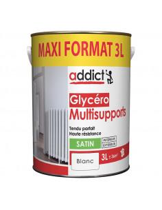 RECA Peinture Glycéro ADDICT Multisupports Blanc Satin 3 L