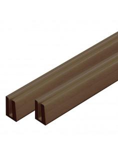HORIZON PLASTICS Finition pour lattice 8' 2,44 m brun foncé