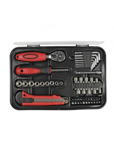 COGEX Malette à outils 53 pièces Noir