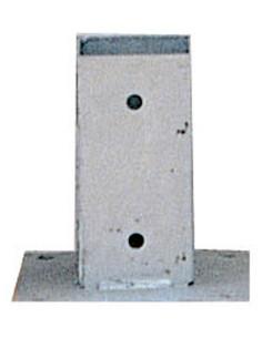 CATRAL Ancrage poteau carré 7 x 7 x 15 cm