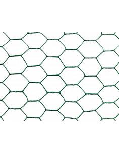 CATRAL Rouleau Grillage Métal Plastifié Maille Hexagonal Vert