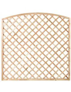 CATRAL Panneau Treillage arche bois Treillis 180 x 180 cm
