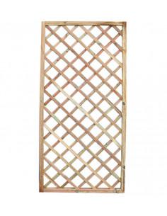 CATRAL Panneau Treillage droit bois Treillis Carré 180 x 180 cm