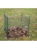 GIARDINO Silo à compost vert 80 x 80 cm