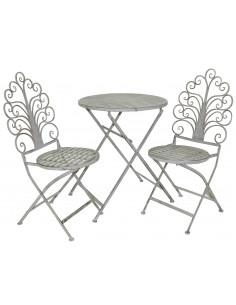 MARKET Ensemble chaise et table métal