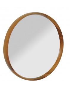PASCAL JR PILLET Miroir rond en bois de Teck Ø.55 cm