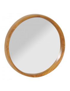 PASCAL JR PILLET Miroir rond en bois de Teck Ø.40 cm