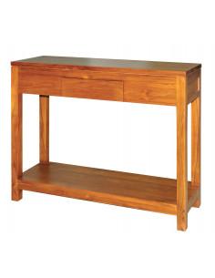 PASCAL JR PILLET Console en bois de Teck 1 tiroir 90 x 30,5 x H.78 cm
