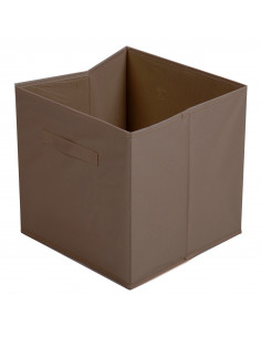 FORNORD Cube de rangement en toile INTISSE 31 x 31 x 31 cm chocolat