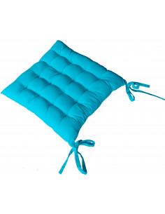 DECOSTAR Galette de chaise Piquée 38 x 38 cm Turquoise