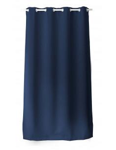 DECOSTARS Rideau Occultant 8 œillets Polyester 140 x 240 cm ble mar