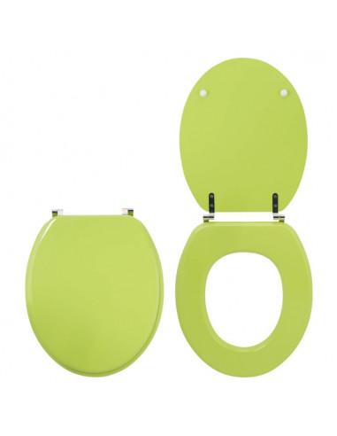 Wirquin Abattant Wc Colors Trendy Line Bois Vert Anis Hyper Brico