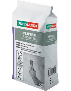 PAREX LANKO PLÂTRE À MODELER Plâtre à prise retardée 5 kg