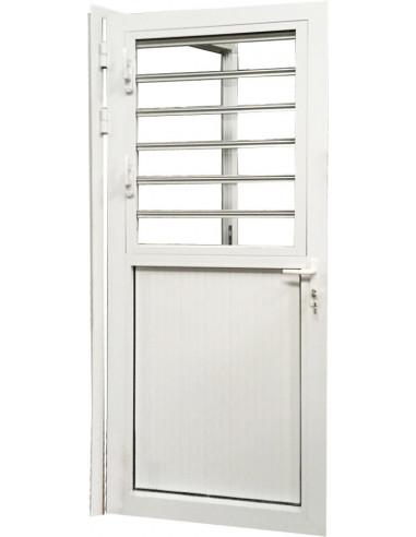 Alu Porte Fenêtre Aluminium L900 X H2200 Mm Droite Hyper Brico