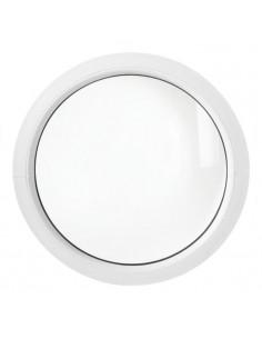 ALU Hublot Rond Aluminium Vitre Fixe 80 cm blanc