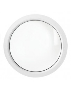 ALU Hublot Rond Aluminium Vitre Fixe 60 cm blanc