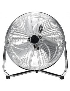 HOMDAY Ventilateur Industriel à Poser Gris Chromé 45 cm 3 Vitesses 110 W Inclinable