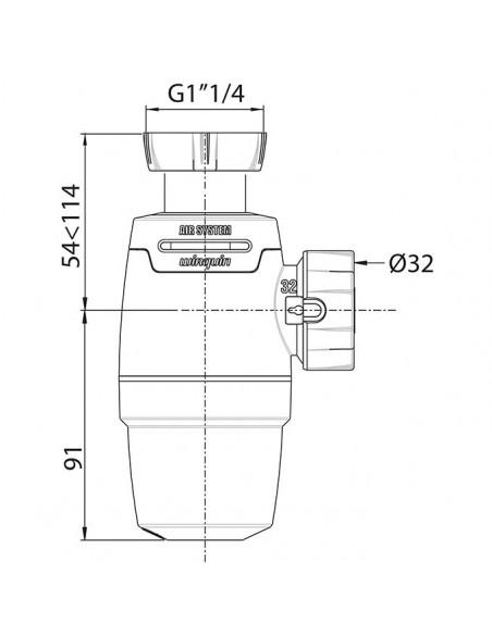 WIRQUIN NEO AIR Siphon de lavabo Ø 32mm