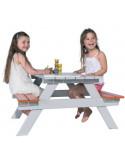 TRIGANO Table de pique-nique PICNIC bois pour enfant 90 x 90 x 57 cm