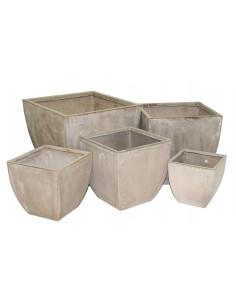 Cache Pot En Fibres D Argile H 58 Cm