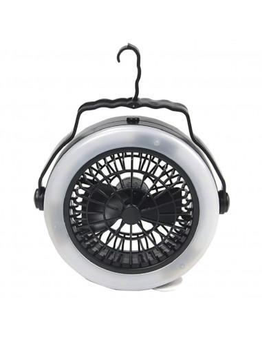 Lampe-Ventilateur de camping 12 Led