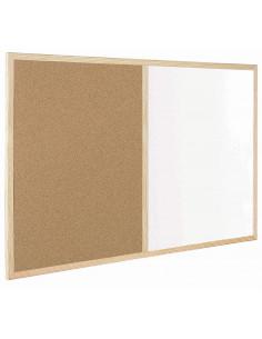FRANDIS Tableau mixte liège/blanc effaçable 40 x 60 cm