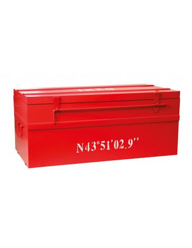 COGEX Cantine métal rouge 150L 90 x 45 x H.37 cm