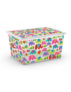 KIS Boîte de rangement plastique C BOX STYLE XL Tender Zoo 38,5 x 55 x 30,5 cm 50L