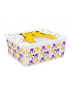 KIS Boîte de rangement plastique C BOX STYLE M Hipster 34 x 40 x 17 cm 18L